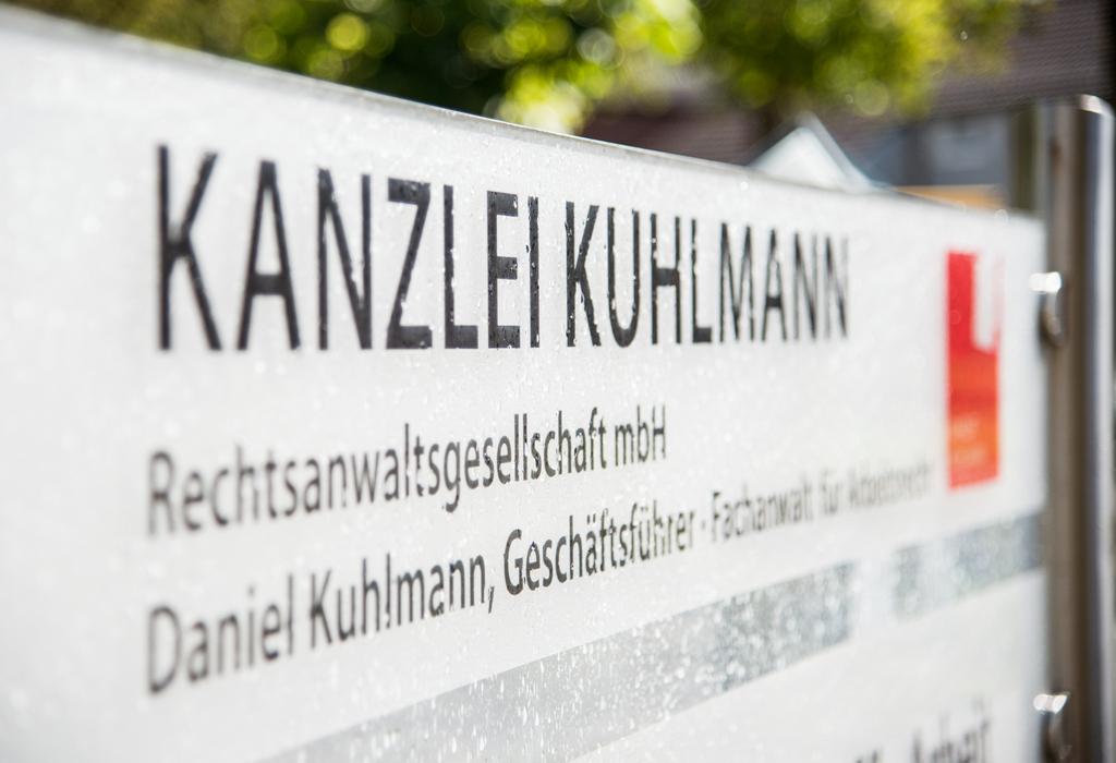 Kanzlei Kuhlmann Rechtsanwaltsgesellschaft mbH Schild